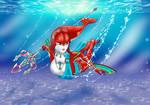 Mipha underwater by Artistfan62
