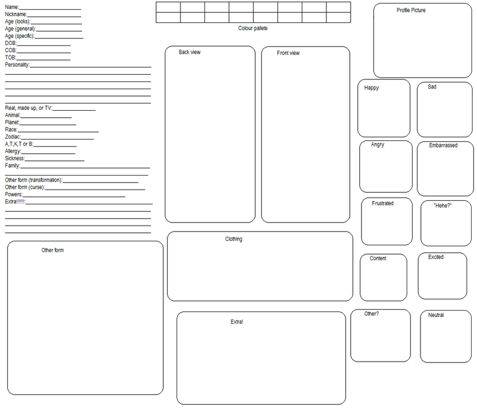 Free Character Reference Sheet Template by Starlight573 on DeviantArt – Reference Sheet Template