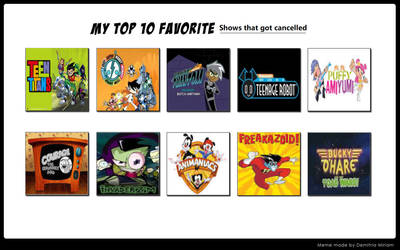 My Top 10 Favorite Shows that got cancelled by Devon14X