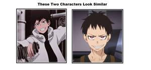 Sen Kaibara and Shinra Kusakabe Look Similar