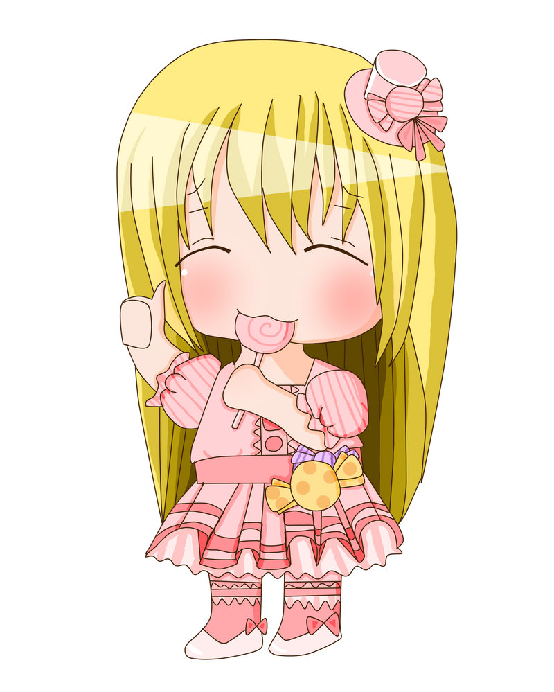 Chibi eating a lollipop by chocomax on DeviantArt