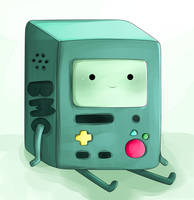 BMO- Adventure Time Fanart by chocomax