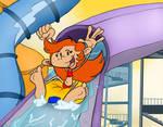 Water Slide Fun! by pinkandorangesunset