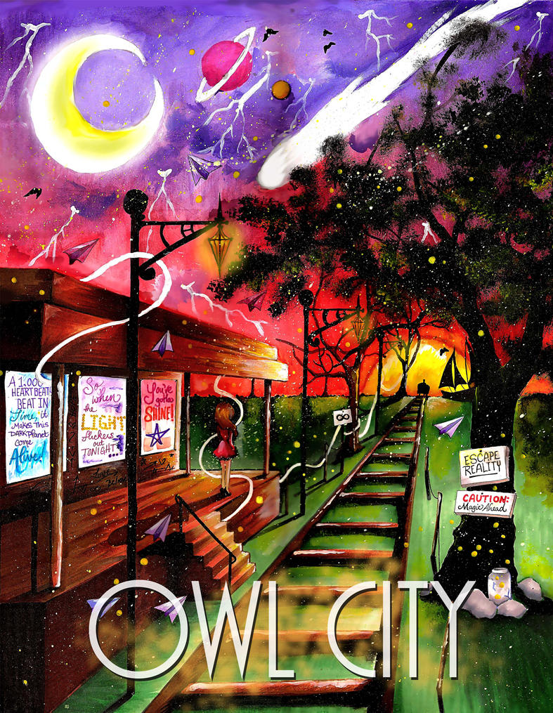 Poster design contest - Owl City Poster Design Contest By Kyogreprincess16