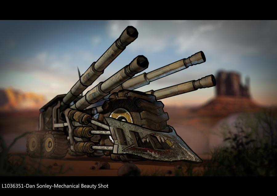 borderlands style tank train by abbrivi8