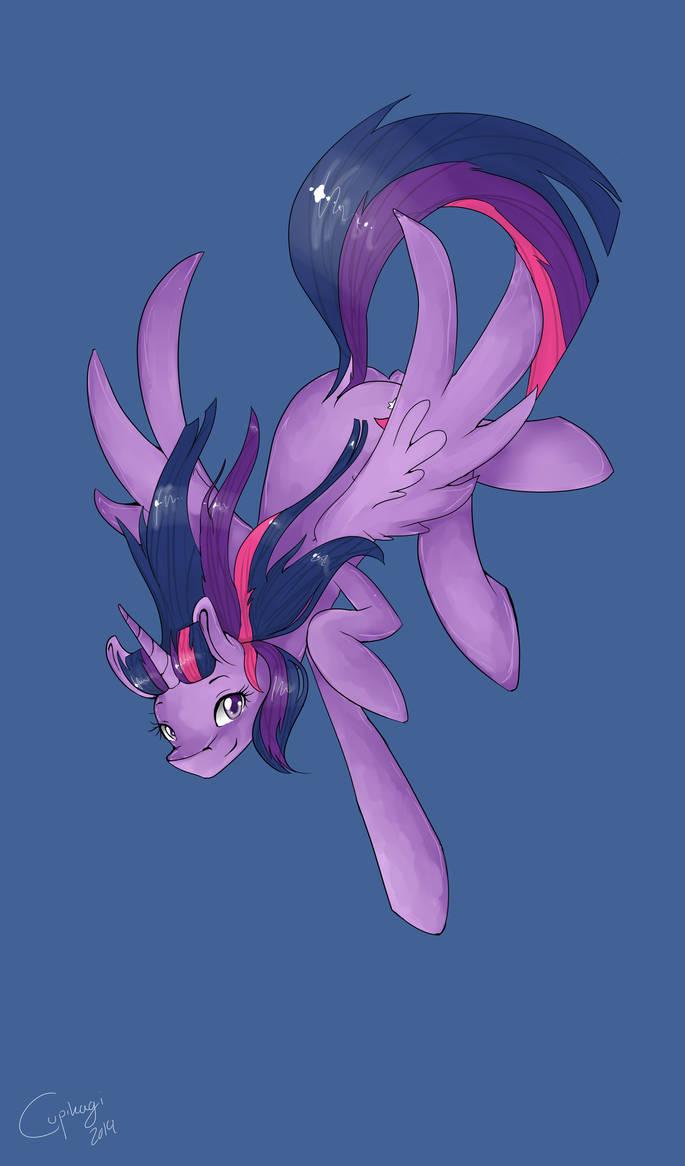 A flying princess