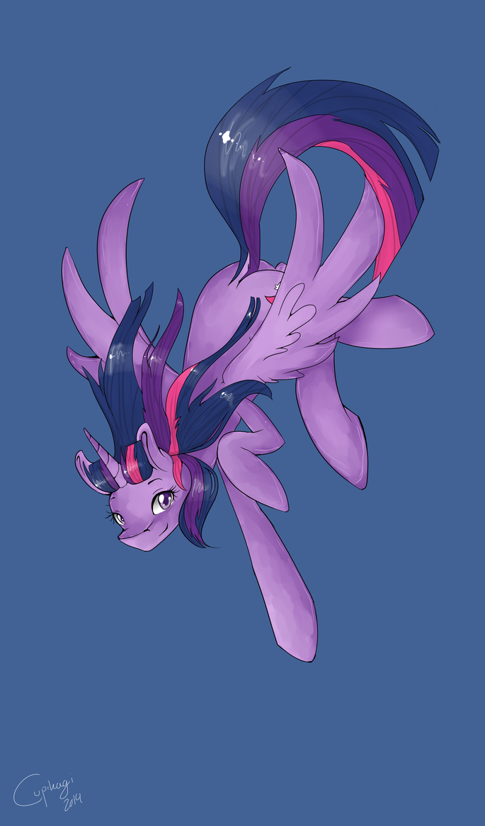 A flying princess by Cupikagi