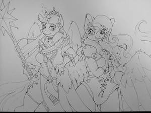 Anthro Twilight and Fluttershy