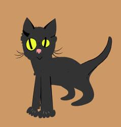Meow want food by Minaloria