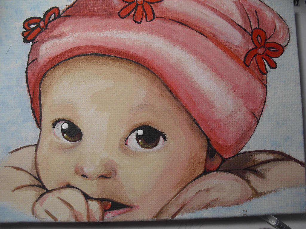 baby girl by CreativePotPie