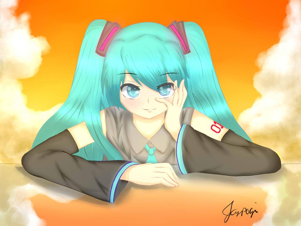 Hatsune Miku (Fan ART) by HikariTetsuya