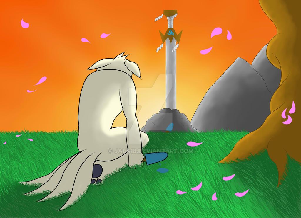 Blade of the Fallen Hero by jau418