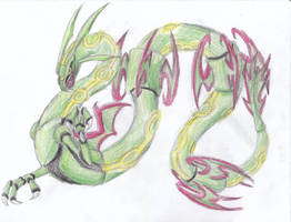December 24th 2011: Rayquaza by UltimateSassMaster