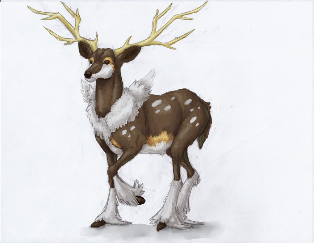 A New Deer Friend (Beast Tamer Class Training) December_12th__2013__sawsbuck_by_ultimatesassmaster-d6xrc7h