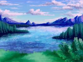 Lake Anguis, the Great Lake by UltimateSassMaster