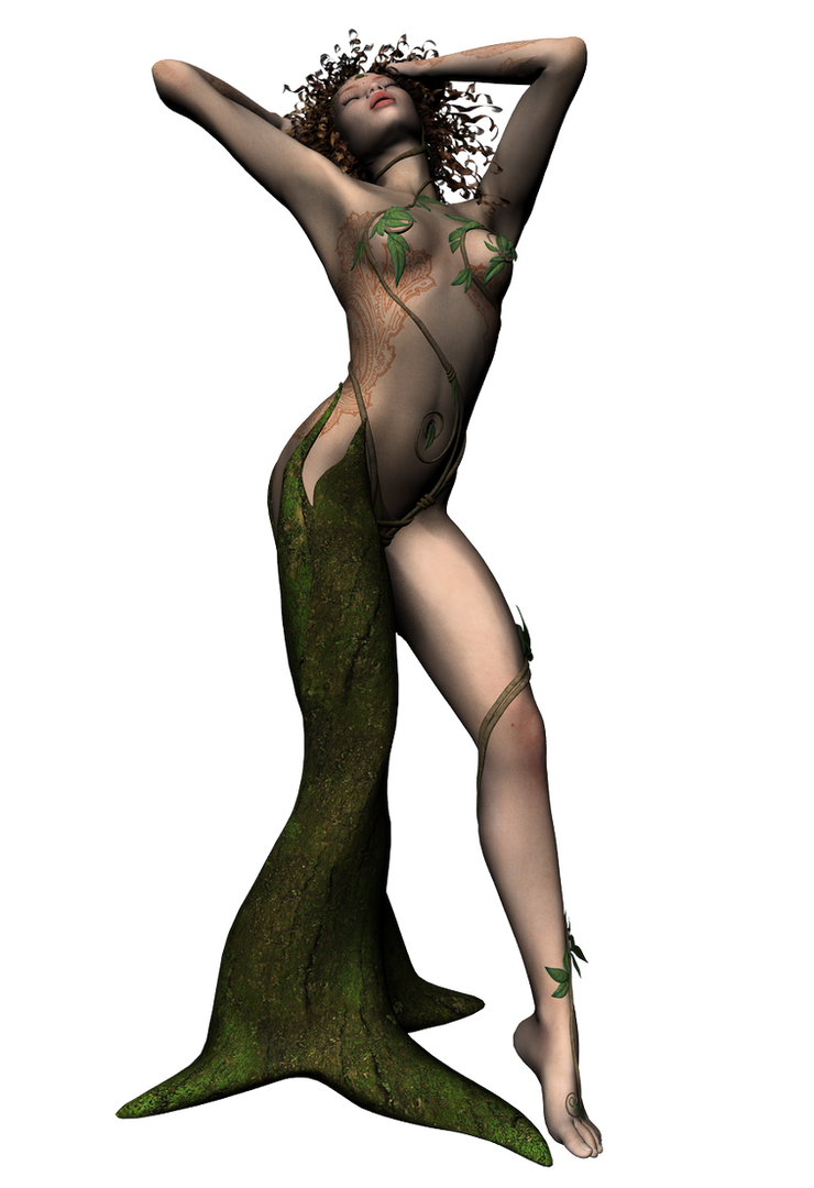 sprite dryad waking up by Umrae-Thara