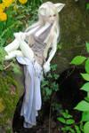 Resting near her den