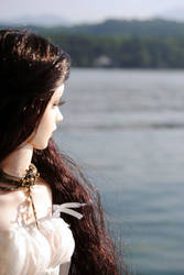 a lady by the lake by Umrae-Thara