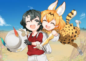 Kaban_and_Serval by hiraki-ajino