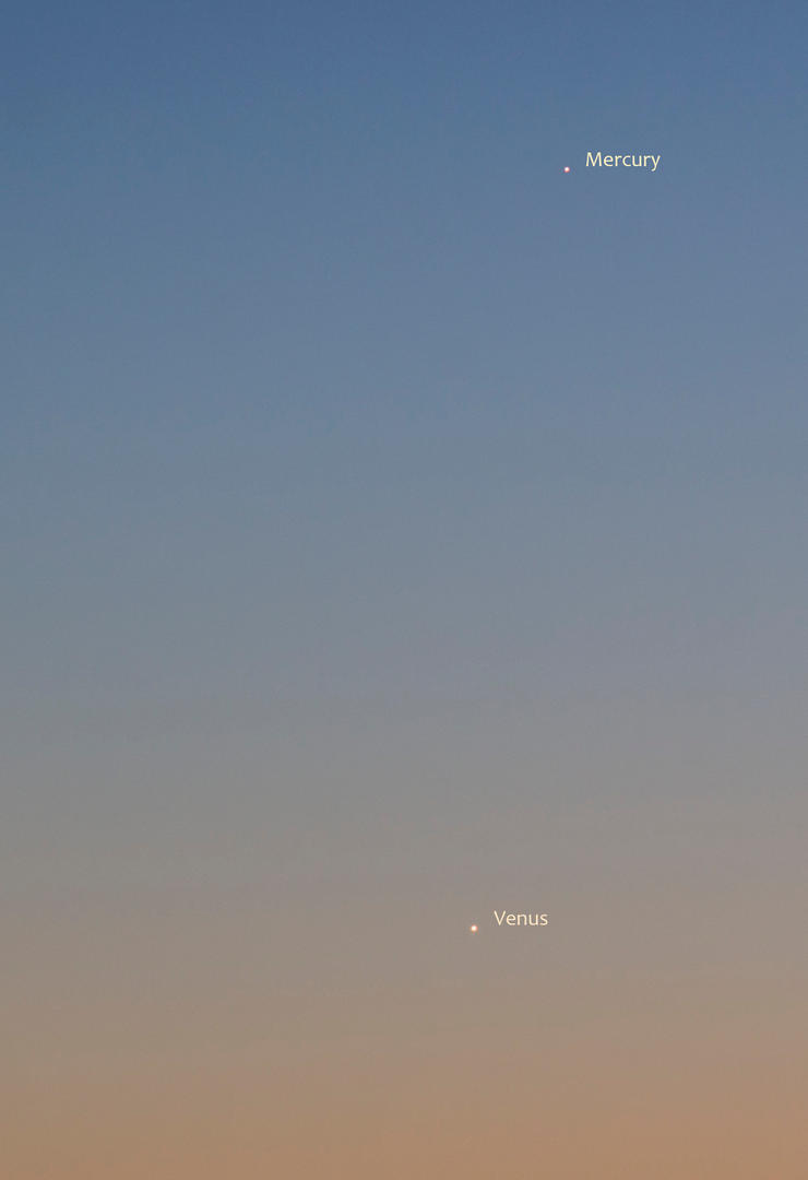Venus and Mercury by moodbringer