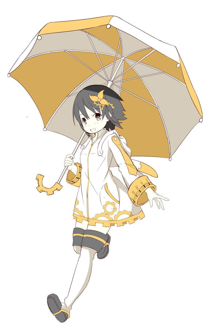 Umbrella Girl by saputraD