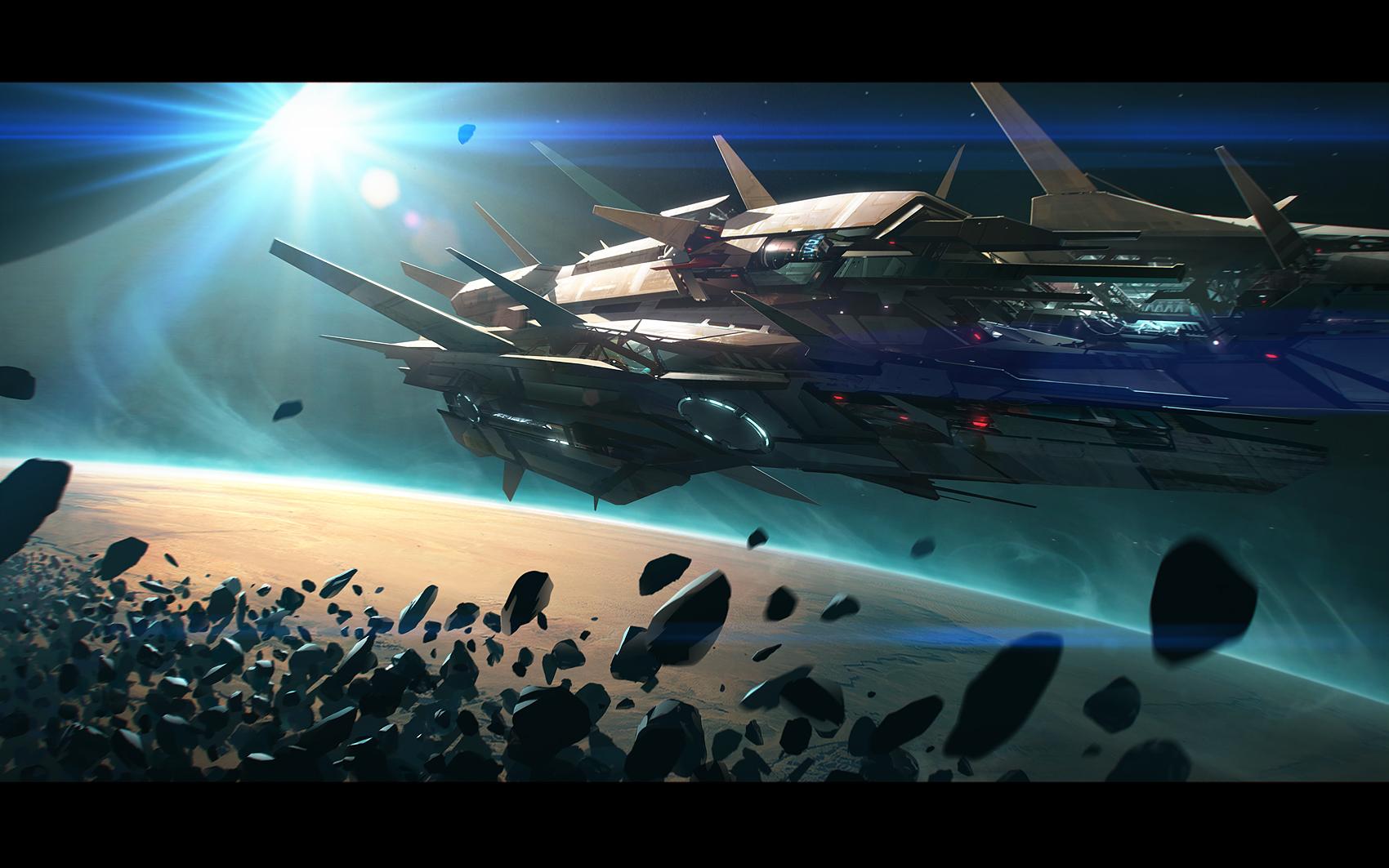 Asteroid shore
