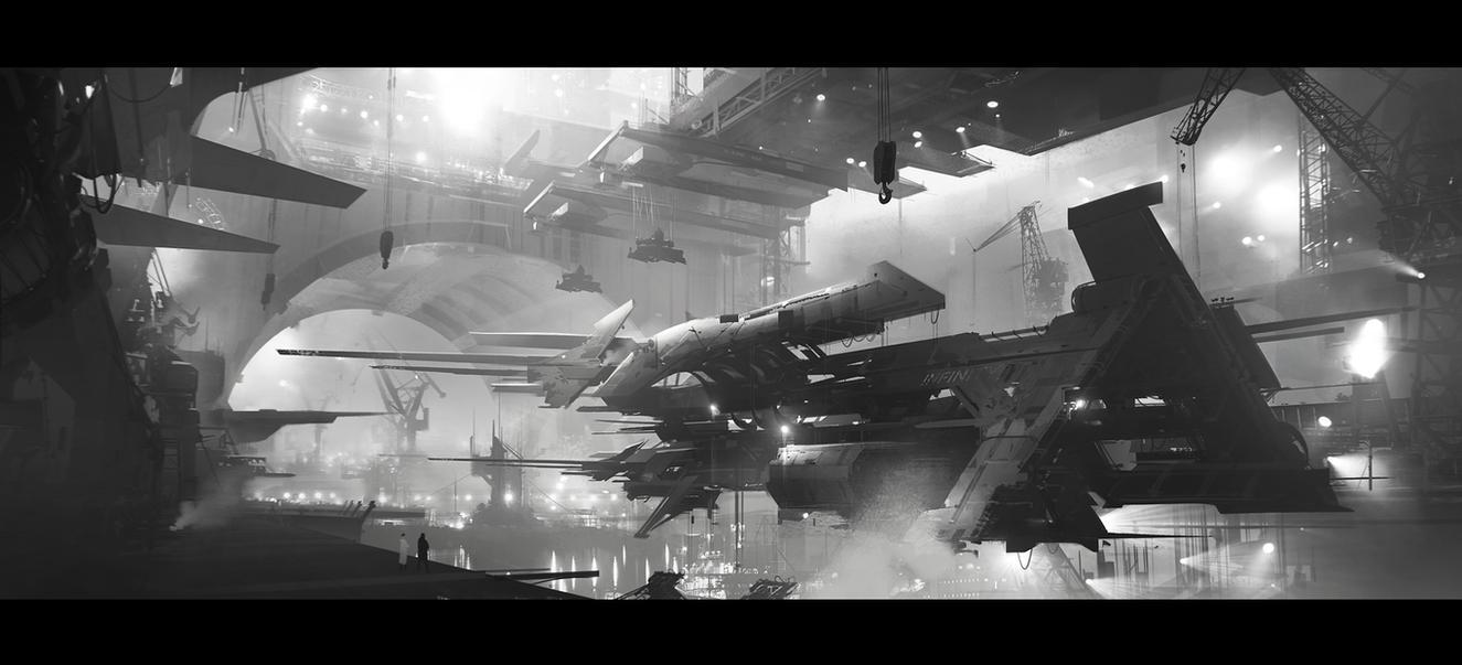 Shipyard by jamajurabaev