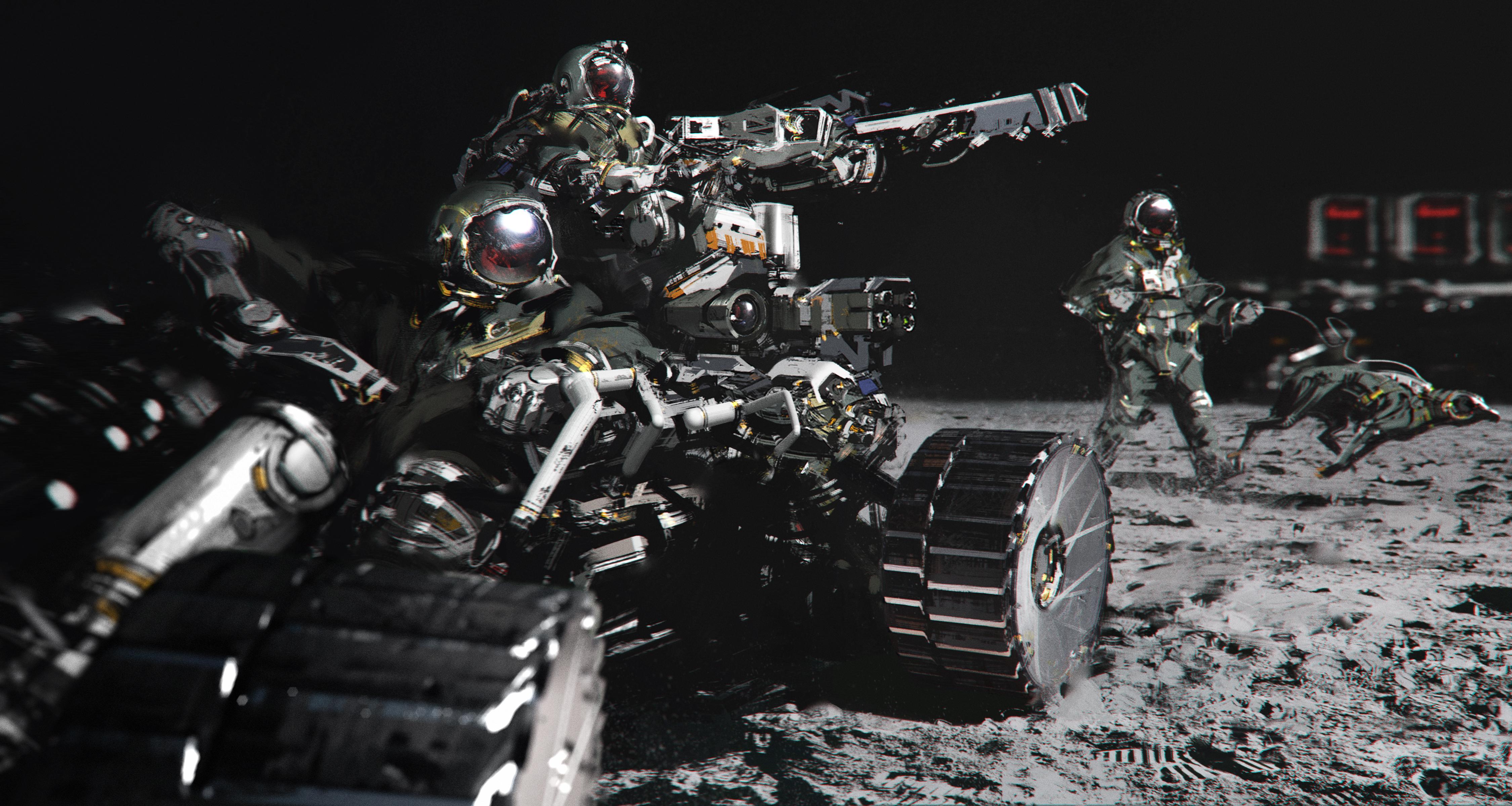 Space hunters by jamajurabaev