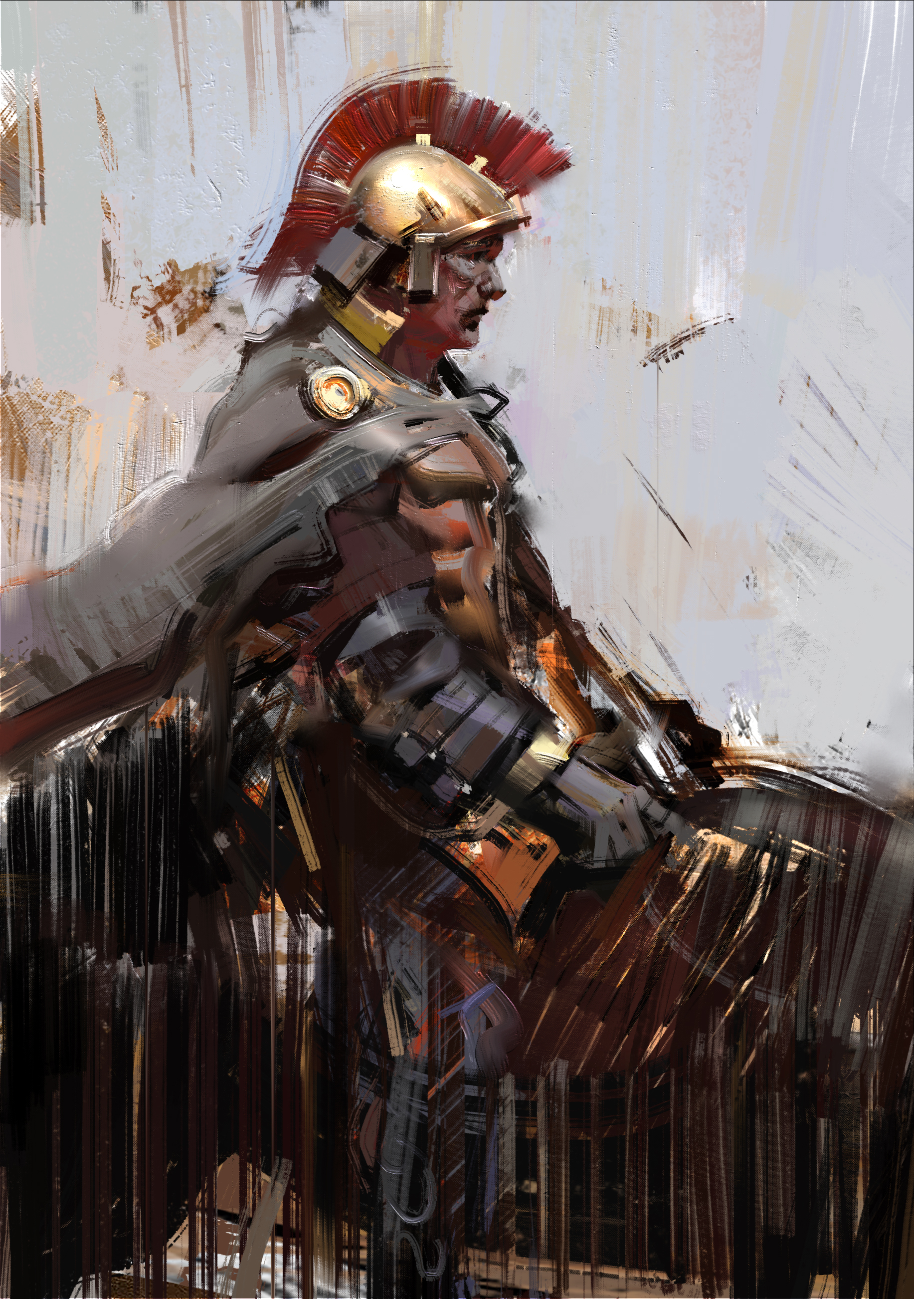 Galeria de Arte: Ficção & Fantasia 1 - Página 6 Roman_soldier_by_jamajurabaev-d7va7as