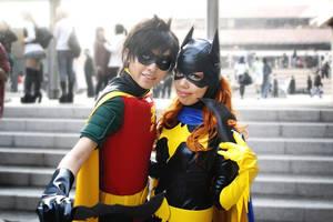Robin and Batgirl by fuuyukida