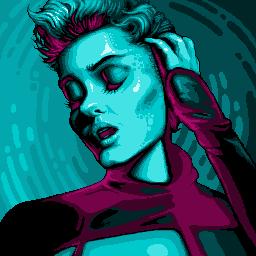 Stefania Ferrario pixel portrait