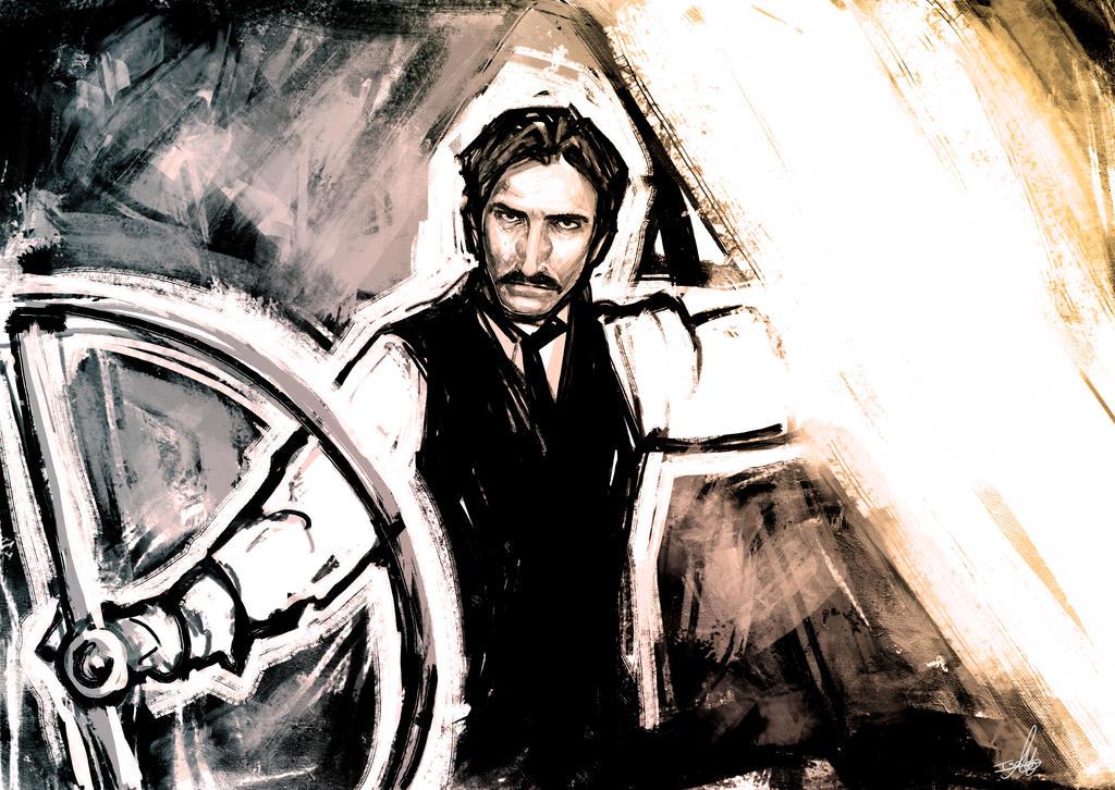 Nikola Tesla - Sketch by Isara-La