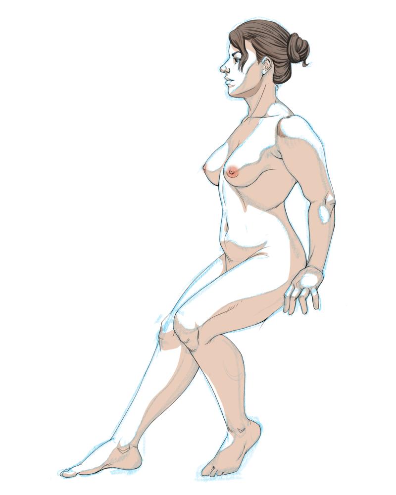 Figure Drawing 3-02-2015 by KingJackalope