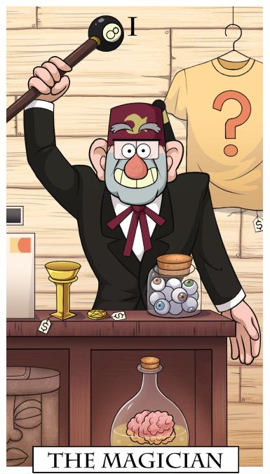 Gravity Falls Tarot - The Magician by KingJackalope