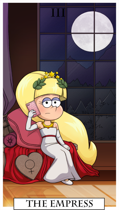 Gravity Falls Tarot - The Empress by KingJackalope