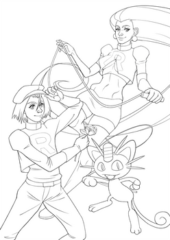 Team Rocket Line Art