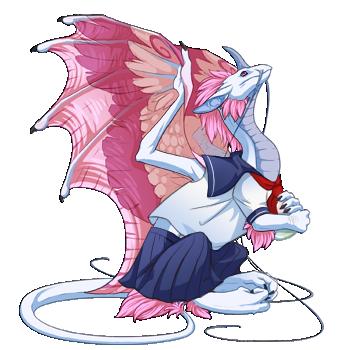 Flight Rising clothing test - Sailor Fuku by KingJackalope