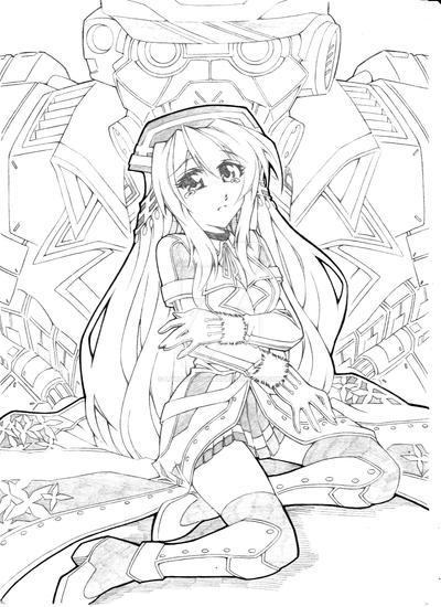 Commander Rom X Kaiser Iris Illustration by lordsyafiqnaz