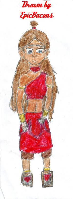 Katara in Fire Nation clothes
