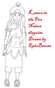Fire Nation Katara line art