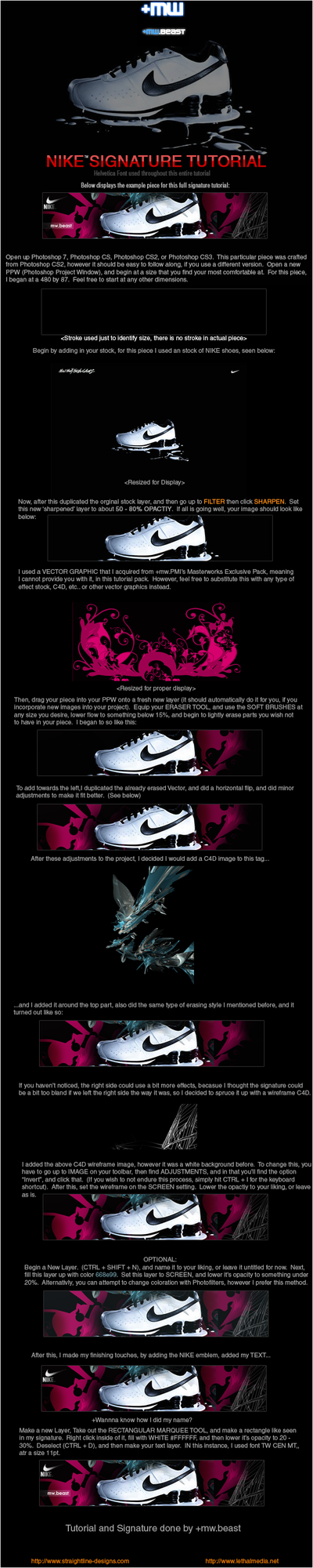 'Nike' Signature Tutorial by LineBeast