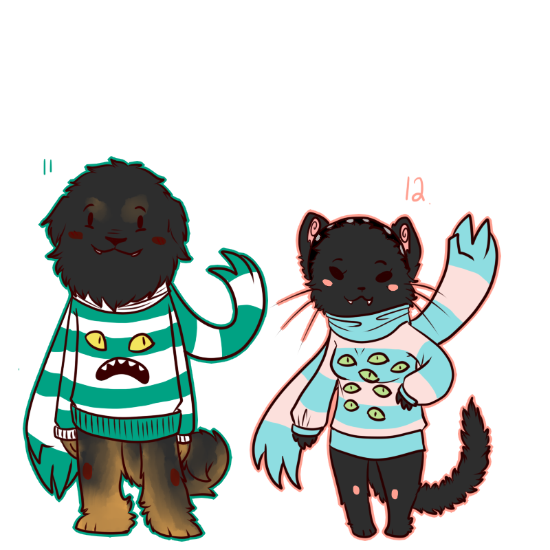 Custom Sweater Monsters # 4 by BitterBile
