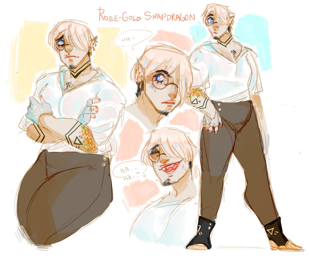 [ OC ] ROSE-GOLD SNAPDRAGON