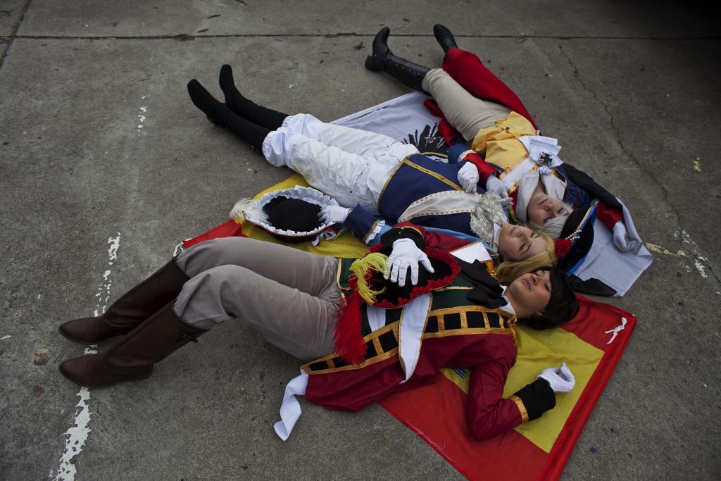 Lasting friendship- bad touch trio cosplay by Voldiesama