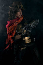 Step right up - Mccree Overwatch cosplay by Voldiesama