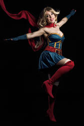 Saving the day -  Bombshell Supergirl cosplay by Voldiesama