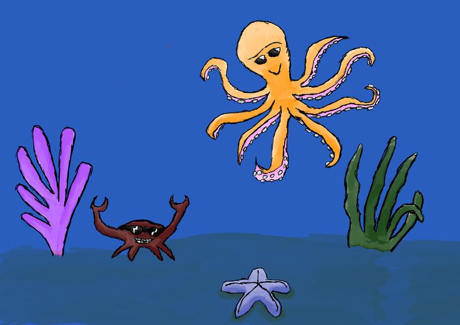 How to draw underwater scene