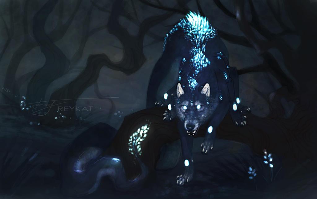 Les Elements Neon_wolf_by_reykat-d4nitru