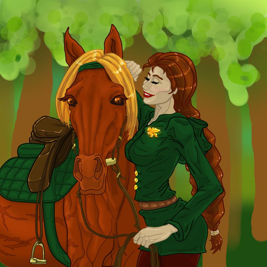 Karigan and Condor: Green Rider by Naga-Hunter