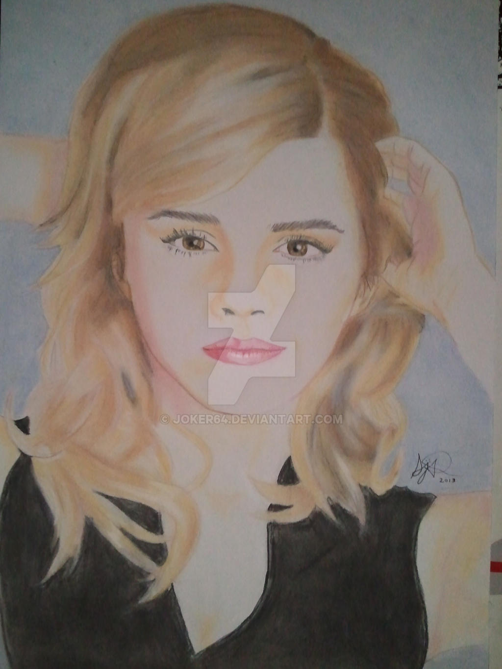 Second try with pastel: Emma Watson by Joker64